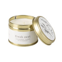 Amanda Jayne Fresh Zest Candle in Gold Tin -  white-black