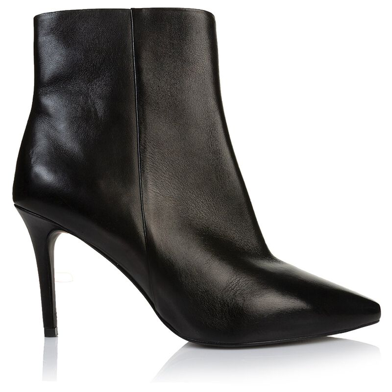 Gianna Pointy Stiletto Boot -  black