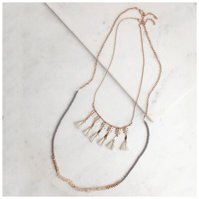 Bead & Tassle Necklace
