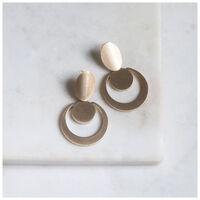 Circular Mid-Drop Earrings -  gold