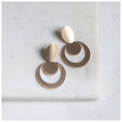 Circular Mid-Drop Earrings
