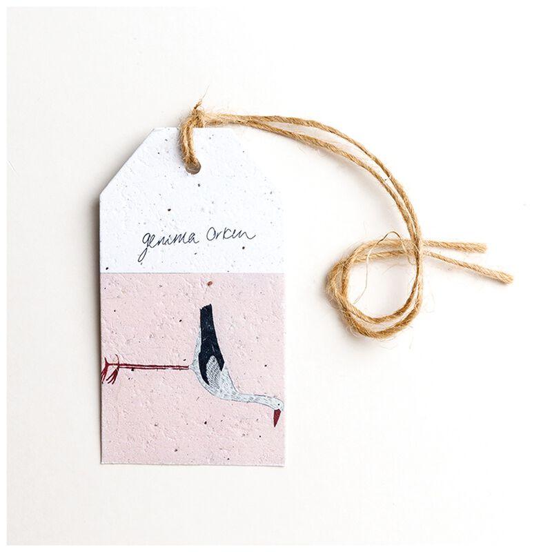 Gemma Orkin Pink Bird Tag -  pink-white