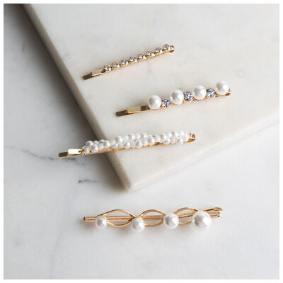 Four-Piece Twisted Pearl Slides