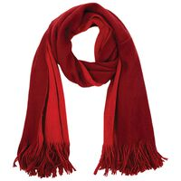 Charleigh Two Tone Warm Handle Scarf -  red-berry