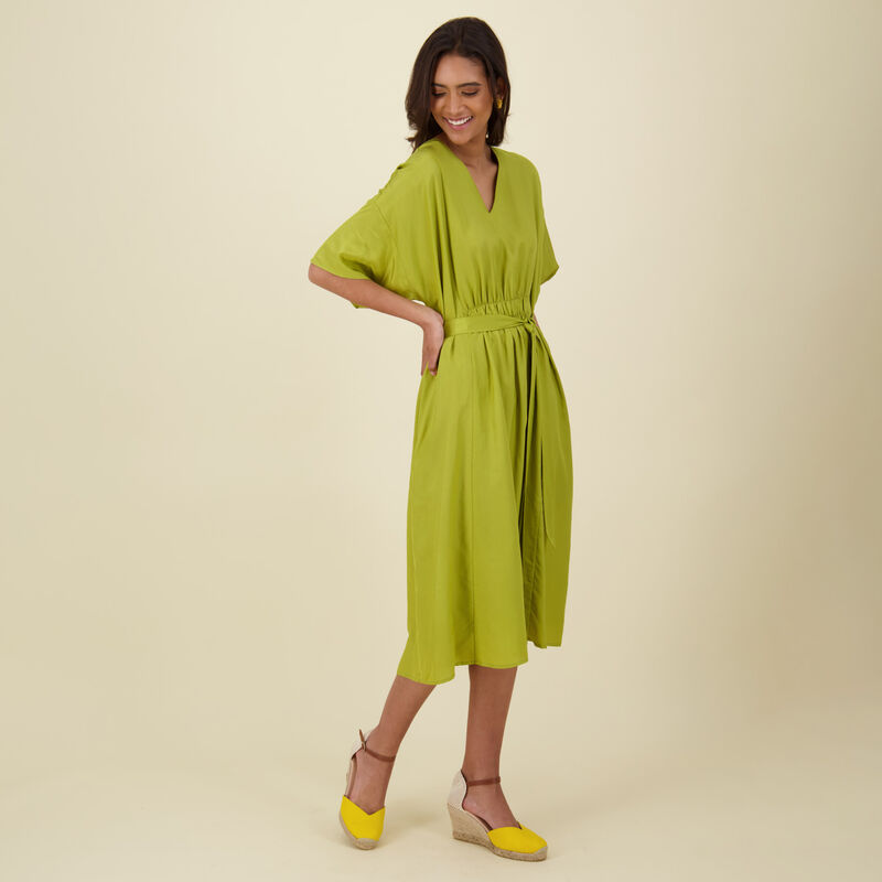 Journey Fit & Flare Dress -  bottlegreen