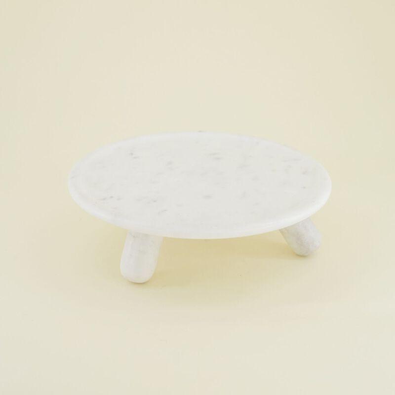 White Marble Cake Stand -  white