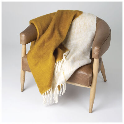 Ochre & Milk Throw