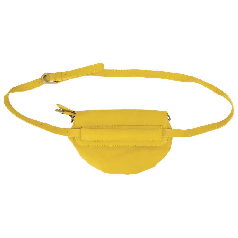 Amara Leather Clutch Bag -  yellow