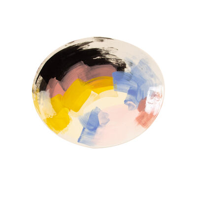 Wonki Ware Sunbaked Abstract Platter