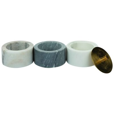 White and Grey Marble Cannister Set