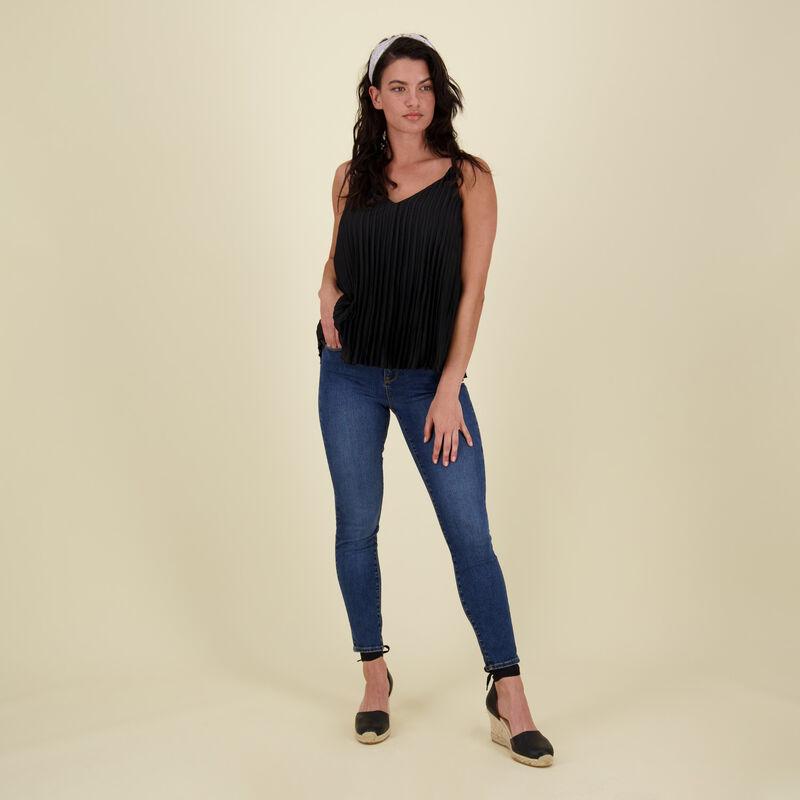 Victoria Pleat Cami -  black