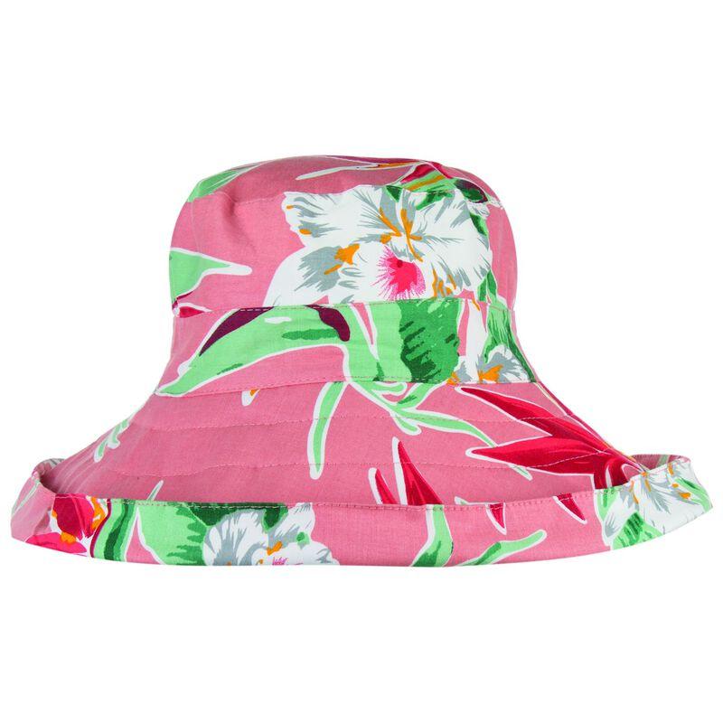 Juliana Floral Print Floppy -  pink-green