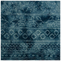 Blues Tie-Dye Floral Tablecloth -  blue-white