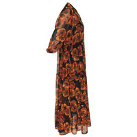 Nola Floral Tiered Dress -  rust