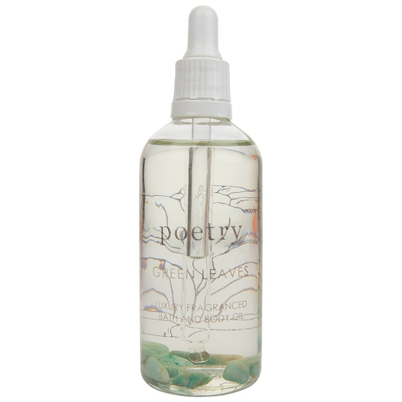 Green Leaves Bath and Body Oil  -  green-yellow