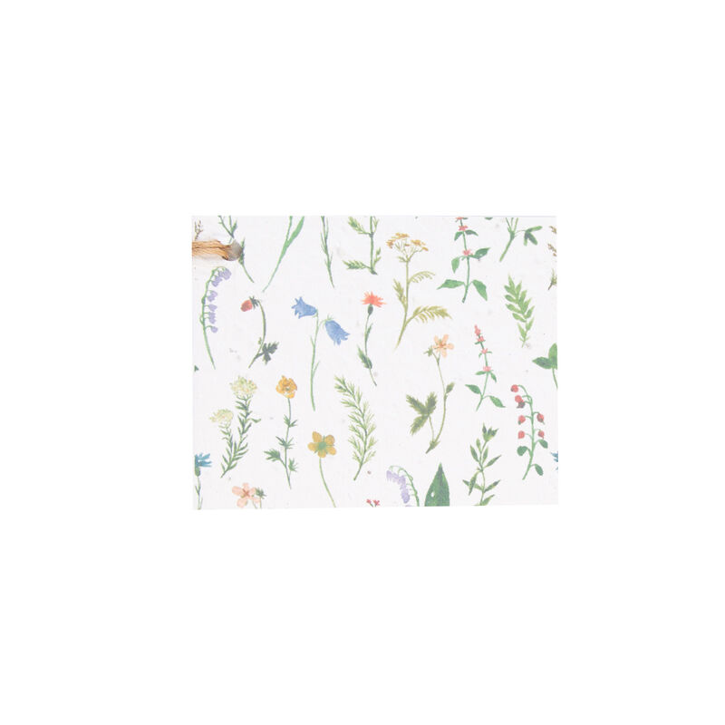 Growing Paper Wild Flowers Tag -  assorted