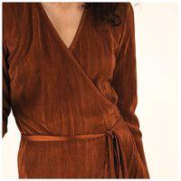 Janika Knit Dress -  rust