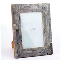 Grey Abstract Frame -  gold-grey