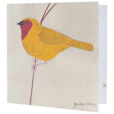Gemma Orkin Yellow Bird Card