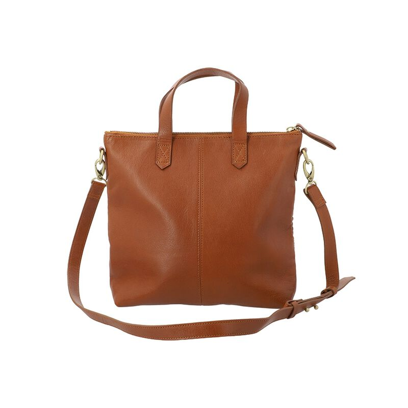 Colene Woven Leather Small Shopper Bag -  tan