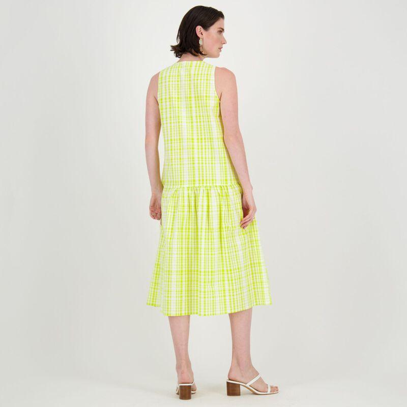 Sadie A-Line Midi Dress -  yellow