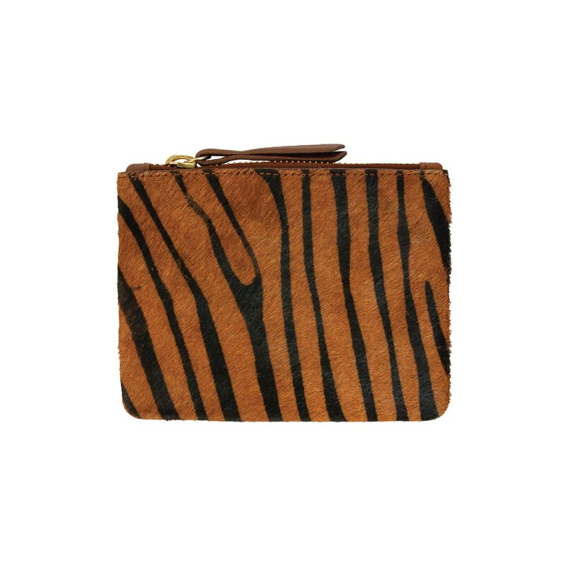 Moira Small Leather Pouch -  rust-black