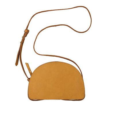 Emma Half Moon Leather Cross Body Bag