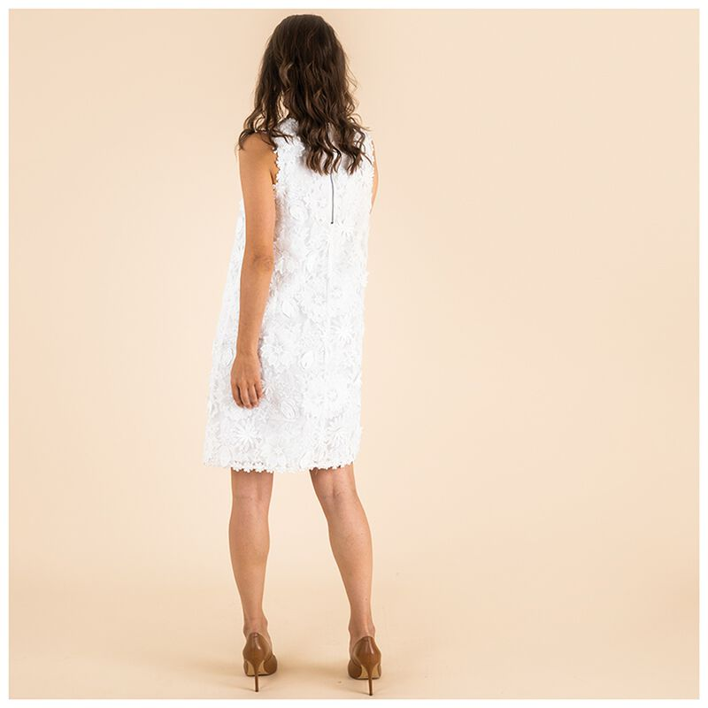 Poetry Aelia Flower Shift Dress -  white