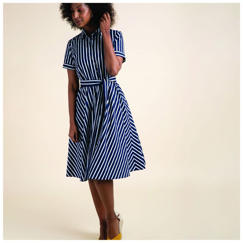 Emery Shirt Dress -  navy