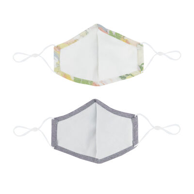 2-Pack Abstract Printed Fabric Face Masks