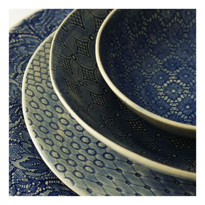 Wonki Ware 16-Piece Patterned Dinner Set