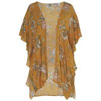 Allyson Ruffle Floral Kimono -  yellow-assorted