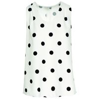 Meredith Spot Blouse -  milk