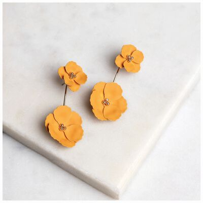 Flower Peek-a-Boo Stud Earrings