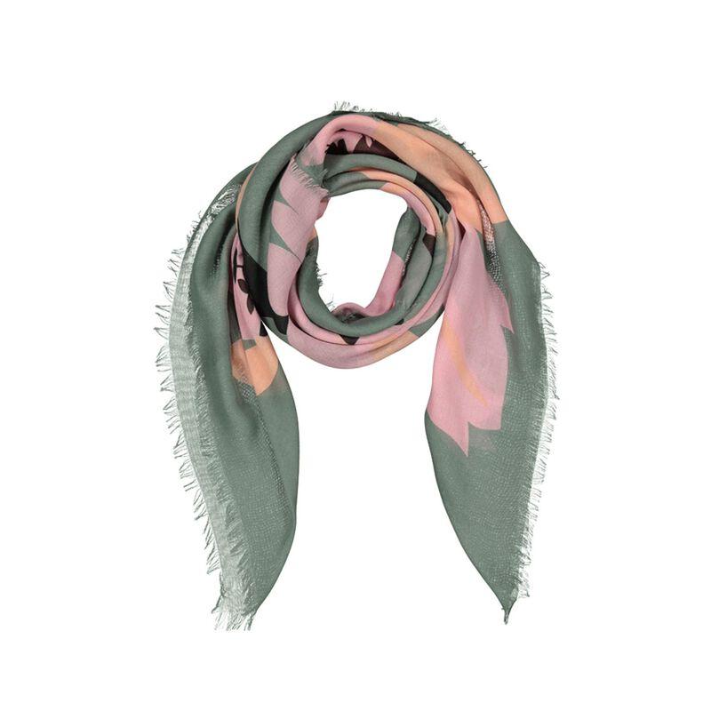 Makaylah Floral Scarf -  pink-sage