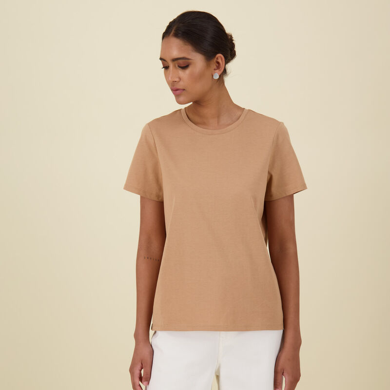 Des Cotton T-Shirt -  stone