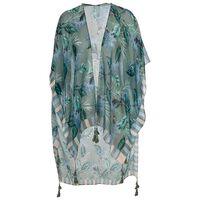 Simone Leaf & Floral Kimono -  sage-assorted