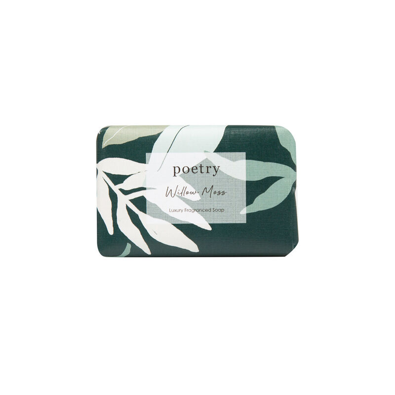 Willow Moss Soap Bar -  teal-white
