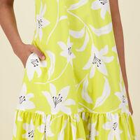 Laura A-Line Dress -  yellow