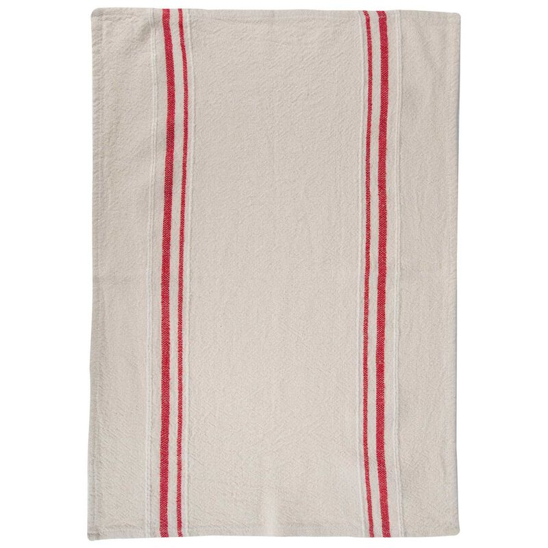 Barrydale French Country Red Tea Towel -  stone-red