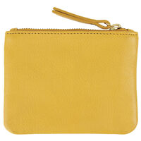 Moira Small Leather Pouch -  yellow
