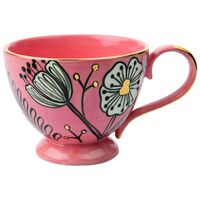 Pink and Gold Bloom Mug -  pink-gold