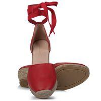 Rare Earth Chiara Wedge Heel -  red