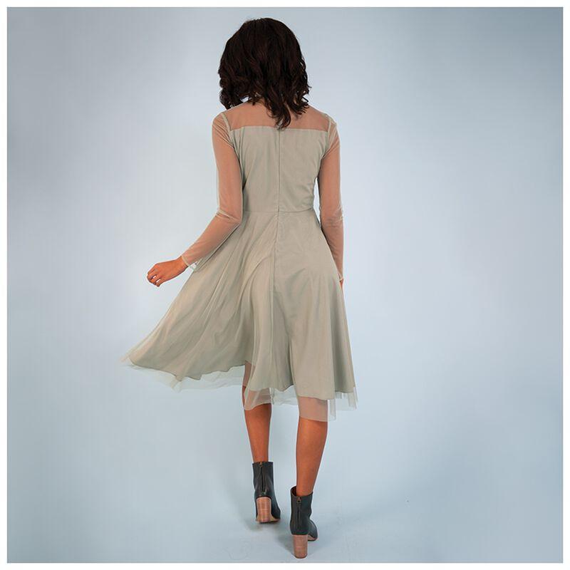 Spring Mesh Dot Dress -  sage