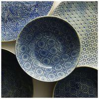 Wonki Ware 16-Piece Patterned Dinner Set -  blue
