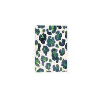 Blue and Green Leopard Notebook -  blue-green