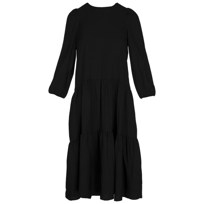Clark Tiered Dress -  black