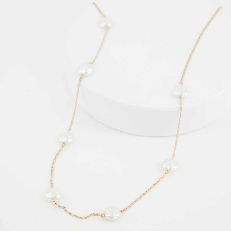 Pearl Satellite Necklace -  c10