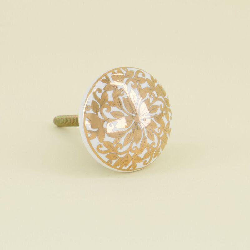 Ornate Gold Flower Knob -  dc0993