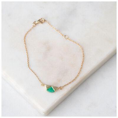 Emerald & Gold Halfmoon Bracelet
